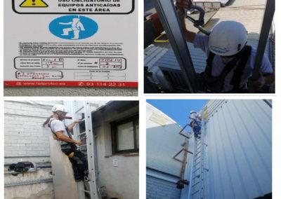 EN 353-1 Escalera de acceso a cubierta con línea de vida rígida incorporada Magneti Marelli
