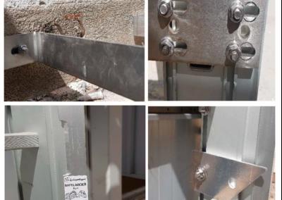 EN 353-1 Línea de vida verticales rígidas y escaleras de acceso a cubiertas Escuela Suiza